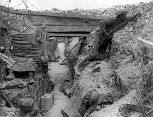 Trench warfare, in Somme, 1916 - John Warwick Brooke [Public domain], via Wikimedia Commons